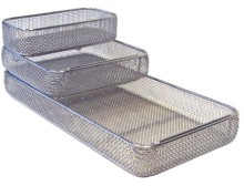 Full wire transportation/ washing/ sterilization basket, stackable (DIN, DIN 58952, EN 285)