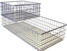 DIN standard (DIN, DIN 58952, EN 285) sterile basket/ full wire container (non-nestable style)