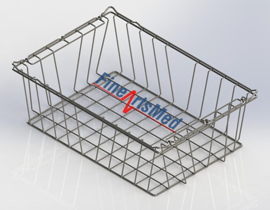 SPRI sterile goods basket, full-wire basket