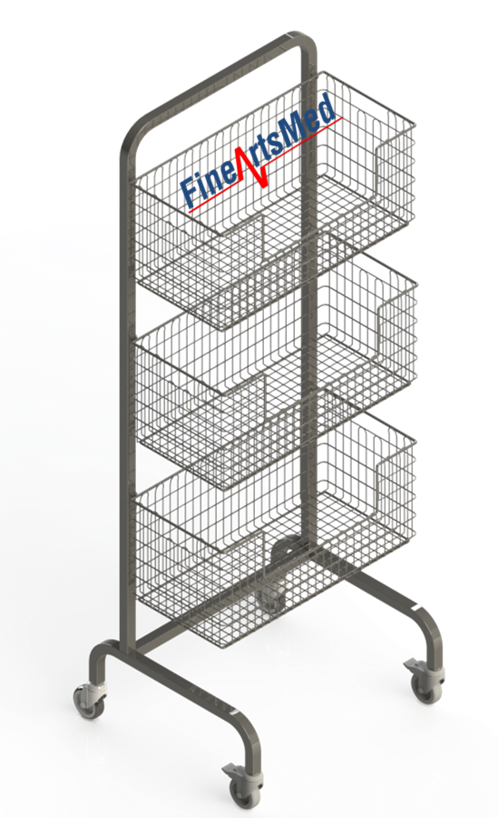 DIN STERILE BASKET RACK - SINGLE SIDED