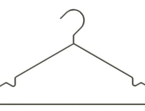 Stainless steel SUS 304/316L clothes-hanger