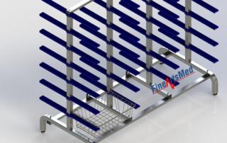SPRI/ISO sterile goods basket rack