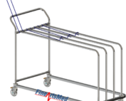 paper dispensing rack with retaining grill