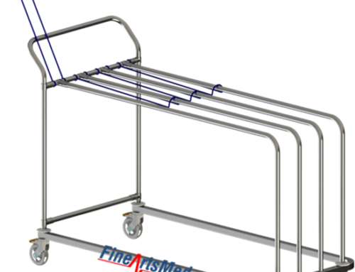 Paper dispensing trolley – with handle version, LEAN style