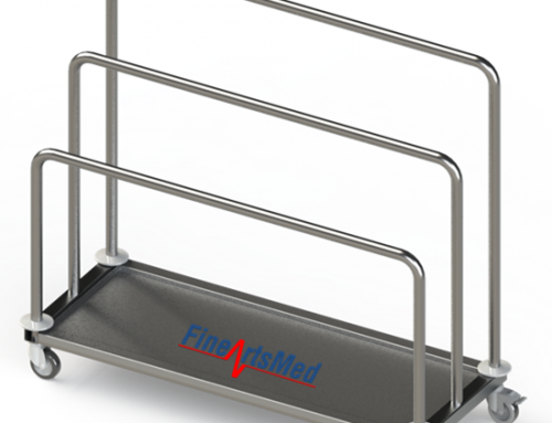 PAPER-DISPENSING TROLLEY – COMPACT VERSION