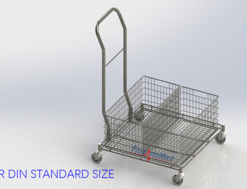 BASKET TROLLEY – FOR DIN STERILE BASKETS STORAGE OR TRANSPORT
