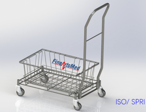 BASKET TROLLEY –  FOR ISO OR SPRI STERILE GOODS BASKET STORAGE AND TRANSPORT