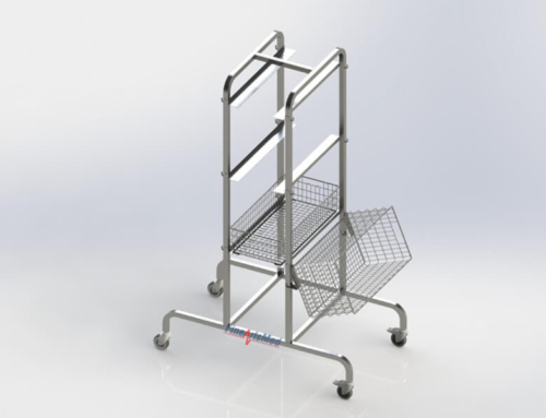 FLEXIBLE STORAGE TROLLEY/ HOOK CART FOR DIN SIZE STERILE BASKET