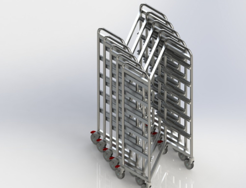 Z-TROLLEYS, FOR DIN/ ISO/ SPRI STERILE GOODS BASKET (OPEN MEDICAL TROLLEYS)