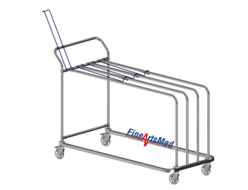 PAPER DISPENSING TROLLEY – WITH HANDLE VERSION, LEAN STYLE (FLAT PACKAGE)