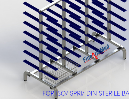 STERILE GOODS BASKET RACK – FOR SPRI/ ISO/ DIN STANDARD SIZE