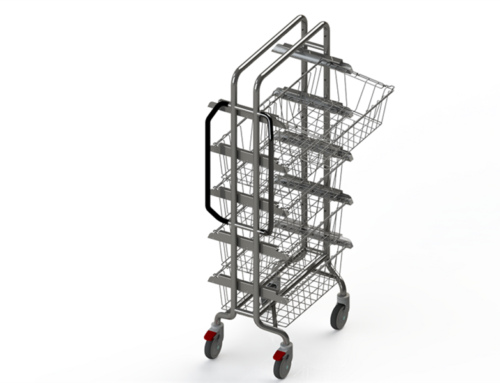 NOVA-OPEN TROLLEYS FOR DIN/ ISO/ SPRI STERILE BASKET/SHELF  (HIGH-END OPEN MEDICAL CARTS)