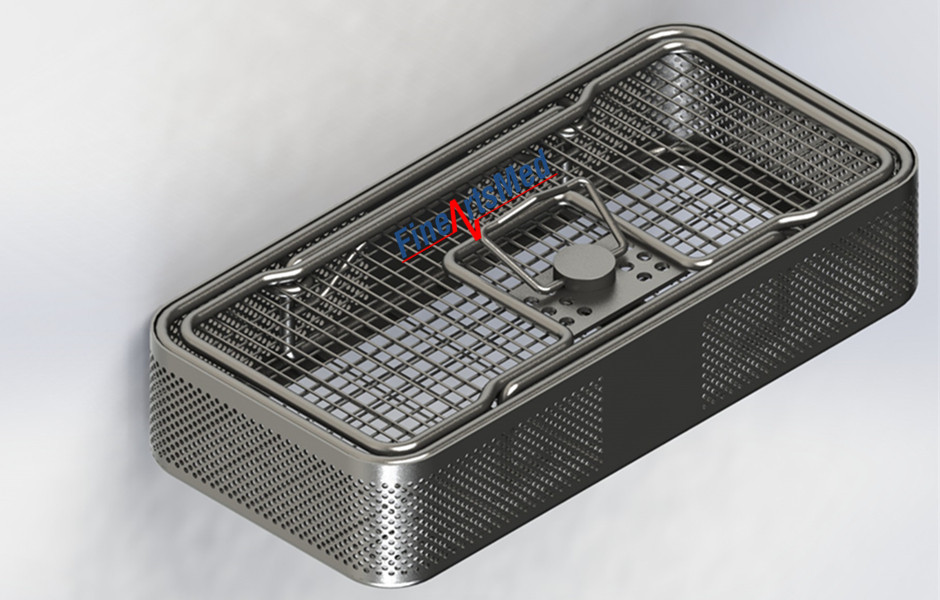 DIN 1/4 instrument tray, with lid and lock